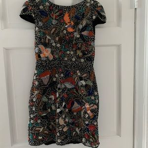 alice + olivia beaded Ellen dress, size 4